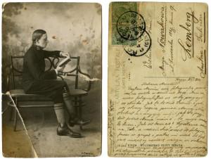 Kartka do mamy z Rzymu. 1914 rok